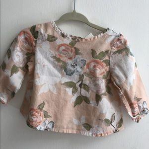 Old Navy Pink Floral Blouse